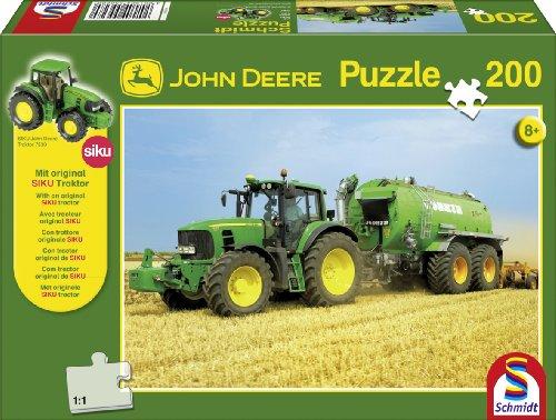 Schmidt Spiele - Puzzle 200 pièces - Tracteur 7530 : Fût avec tracteur