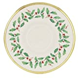 Lenox Holiday Gold Banded Ivory China Saucer Reviews