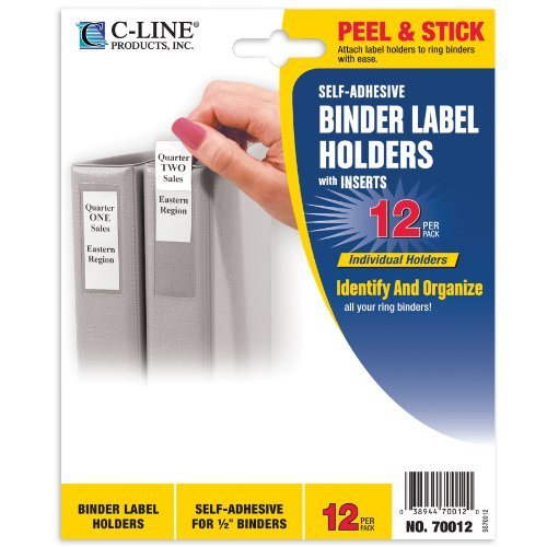 c line self adhesive binder label holders for 1 2 inch import it all