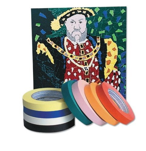 Chenille Kraft Colored Masking Tape - Blue - 1 Inch X 60 Yards - 3 Inch Core - Blue front-130825