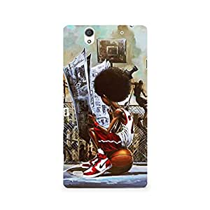 MOBICTURE Girl Abstract Premium Designer Mobile Back Case Cover For Sony Xperia C4