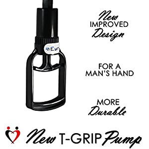 LeLuv EasyOp T-Grip GOOD Male Novelty Pump with Black or Clear TPR Sleeve