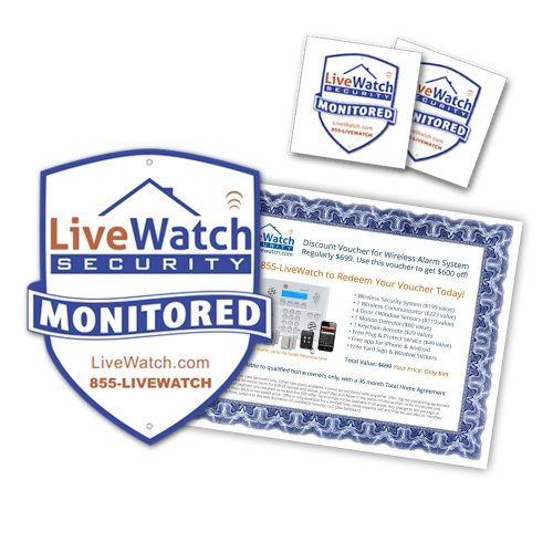 Buy Discount Home Security Yard Sign & Window Sticker Pack - Includes Discount Voucher for a Hom...
