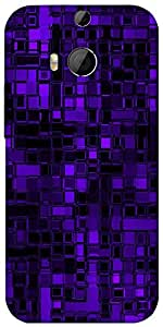 Snoogg Purple Digital 2422 Designer Protective Back Case Cover For Htc One M8