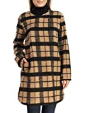 BB Dakota Women's Kellen Collarless Wool Plaid Coat