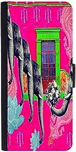 Snoogg Elephant Loverdesigner Protective Flip Case Cover For Moto-E