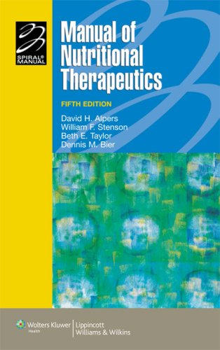Manual Of Nutritional Therapeutics (Lippincott Manual Series (Formerly Known As The Spiral Manual Series)) front-876366