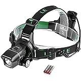Lighting EVER® 5 Watt ultrahelle Stirnlampe, 3 Stück AAA-Batterien im Lieferumfang enthalten