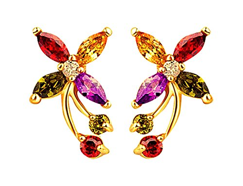 womens-luxury-18k-champagne-gold-plated-lili-flower-colorful-crystal-bridal-fashion-stud-earrings