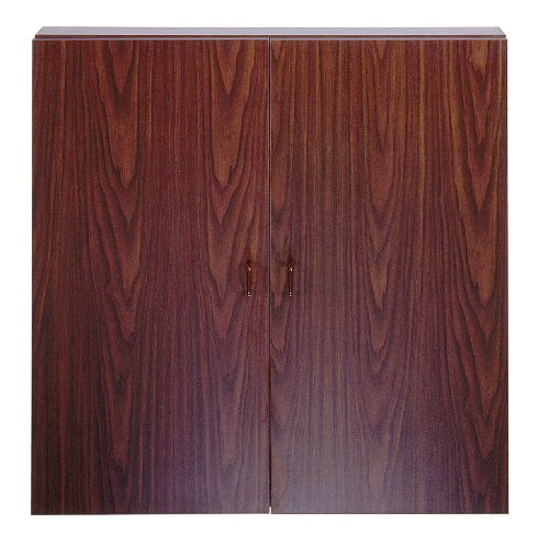 4'W x 4'H Walnut Conference Cabinet w/Centurion Porcelain Whiteboard & 24