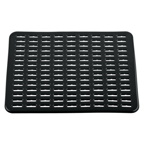 interdesign syncware kitchen sink protector mat large black new ebay. Black Bedroom Furniture Sets. Home Design Ideas