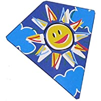 "Hawaiian Sun Style Kite From Flyers Kites (Single Kite), 24"" X 26"", Diamond Kite, Other Styles Available. 3+ Years"
