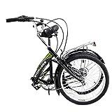 Stowabike 20 Folding City V2 Compact Foldable Bike - 6 Speed Shimano Gears Black