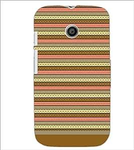 PrintDhaba Tribal pattern D-1805 Back Case Cover for MOTOROLA MOTO E (Multi-Coloured)