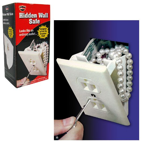 Gambler'S Wall Outlet Diversion Safe - Perfect For Home Poker Games! front-275605