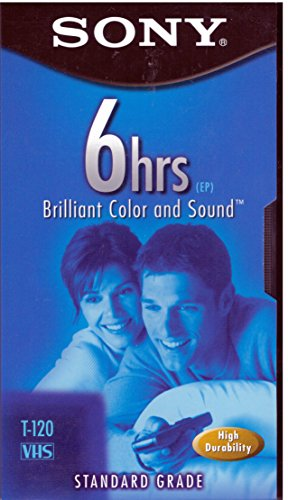 Lowest Prices! Sony 5T120VR Standard-Grade VHS Videocassette - 5 Pack