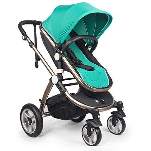ibeis® Children' Bidirectional Light weight Four-wheel Folding Stroller F3 (Green)