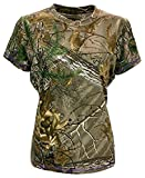 Walls 56188AX9 Womens Short Sleeved T-Shirt Shirt Camo Hunting Realtree Xtra Medium