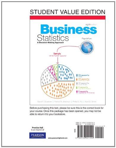 Business Statistics, Books a la Carte Edition (8th Edition)
