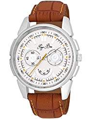 Pappi Boss Dumy Chronograph Leather Strap Casual Analog Watch For Boys, Men