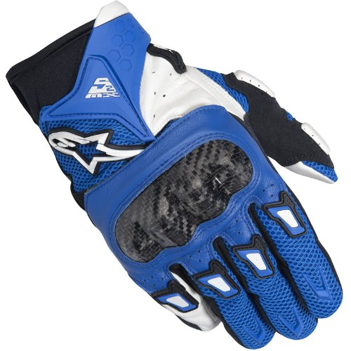 Alpinestars SMX-2 Air Carbon Motorcycle Gloves 3XL Blue/White