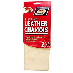 Detailer\'s Choice 10X02250 Leather Chamois - 2.5-Square/Feet - 1-Each