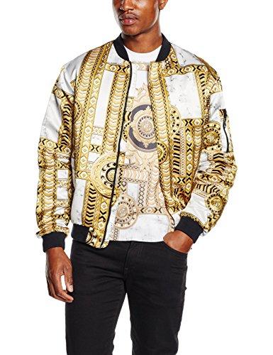 Versace Jeans - EC1GNB901_E17885, Giacca da uomo, bianco-e003, 44