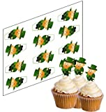 12 Leprechaun Cupcake Picks for St Patrick's Day! - 'Stand Up' ricepaper cake decorations (uncut)