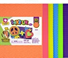 Creative Hands 3220289E 12-Piece Foam Sheets for Arts and Crafts, Neon