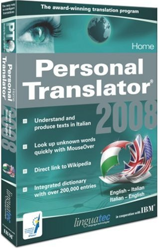 Personal Translator 2008 Home English - Italian