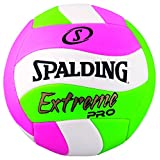 Spalding Extreme Pro Wave Volleyball, Pink/Green, Official Size