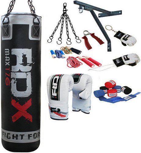 RDX 13 Piece Pro Boxing Set 5ft Punch Bag,Gloves,Bracket,Chains MMA Punching UFC