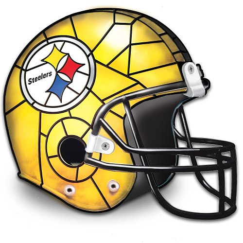 The Pittsburgh Steelers Louis Comfort Tiffany-Style Accent Lamp by The Bradford Exchange from SteelerMania