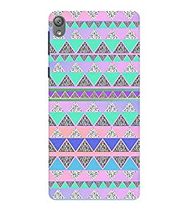 EPICCASE Triangle pattern Mobile Back Case Cover For Sony E5 (Designer Case)