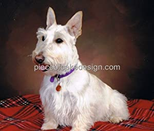 "6"" Round ~ Wheaton Scottish Terrier Dog Breed ~ Edible Image Cake/Cupcake Topper!!!"