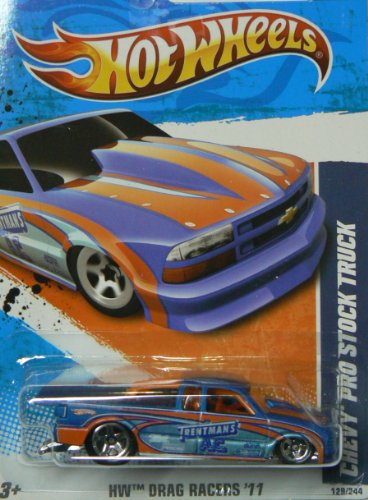 Hot Wheels HW Drag Racers '11 9/10 Chevy Pro Stock Truck Collector #129/244 - 1