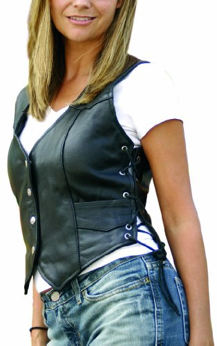 Interstate Leather Ladies Side Laced Vest (Large)