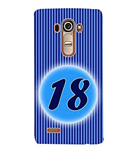 ColourCraft Numerology Number 18 Back Case Cover for LG G4