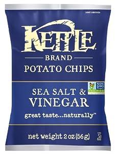 Kettle Chips, Sea Salt & Vinegar, 2-Ounce Bags (Pack of 24)