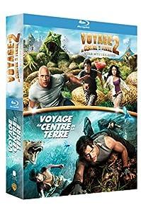 Voyage au centre de la Terre + Voyage au centre de la Terre 2 : l'île mystérieuse [Blu-ray]