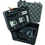 Go Professional XB-552 Pro Watertight Rugged Case for 2 HD GoPro Cameras, Fits - Hero 2, Hero 3, Hero 3+,Hero 4
