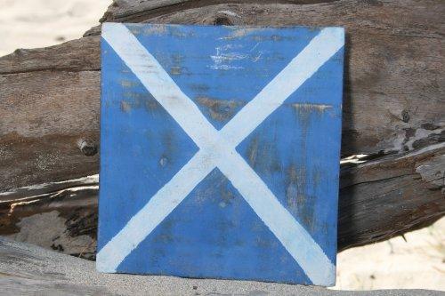 """M"" NAUTICAL RUSTIC FLAG 8' X 8' - WOOD PANEL - NAUTICAL DECOR"