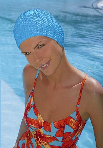 Classic Style Bubble Waffle Swimming Cap Fashy Swimming Hat Bathing Cap White, Black, Red, Pink, Yellow, Orange, Blue, Green, Navy Blue, Turquoise, Purple