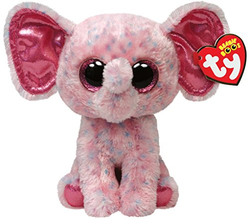 Ty Beanie Boos Ellie Pink Speckled Elephant Regular Plush - 1