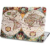 "Retro WORLD-MAP Case (Get 3 Macbook Saviour Accessories FREE) Premium Matte Hard Shell Skin Snap On Front & Back Cover Case For Apple MacBook Pro 15"" 15.4 Inch With Retina Display A1398 MacBook 15.4 Inch Pro Hard Shell Cover Case"