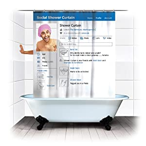 Spinning Hat Social Shower Curtain