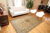 Beige Traditional Isfahan Wool Persian Area Rugs 7'10 x 10'5