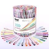 Smart Color Art - 100 Colors Gel Pen Set   Colors Included