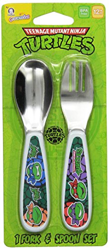 Gerber Graduates Nickelodeon Teenage Mutant Ninja Turtles Fork and Spoon Set (Children Spoon compare prices)