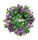 Melrose 20-Inch Diameter Purple Lilac Wreath